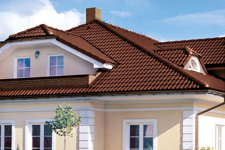 Betónová škridla EURONIT DURATOP EXTRA dodá streche výrazný lesk. Jej výnimočný vzhľad a tvar vyniká už z diaľky.