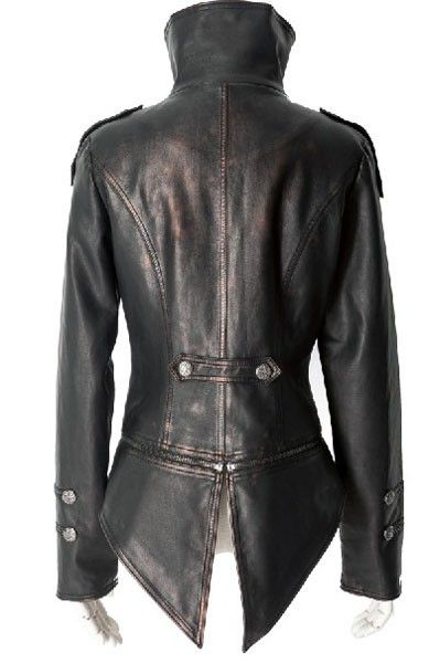 swallow tailed leather jacket