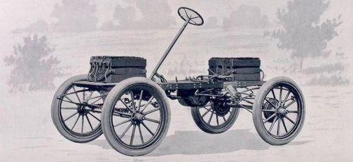 Electric car chassis detail
