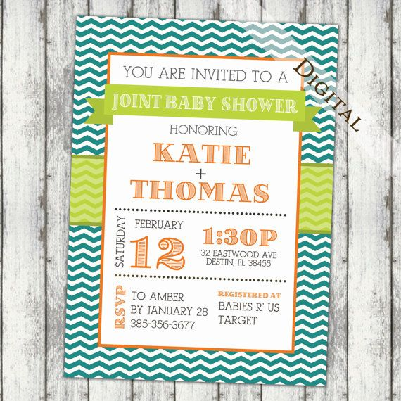 Joint Baby shower Invitation couples shower by JoyPribishDesigns, $15.00
