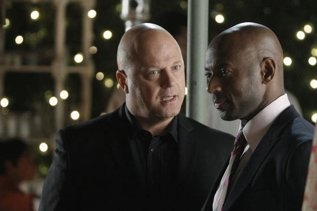 Photo of Michael Chiklis & his friend  Romany Malco