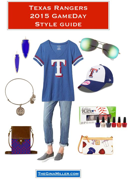 Wondering what to wear to a Texas Rangers game? I have found cute gear for the whole family, including the guys, the kids AND your fan cave. | Texas Rangers Gear That Isn't Fugly on TheGinaMiller.com.