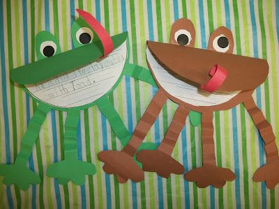 Frog and Toad writing and cute bulletin board