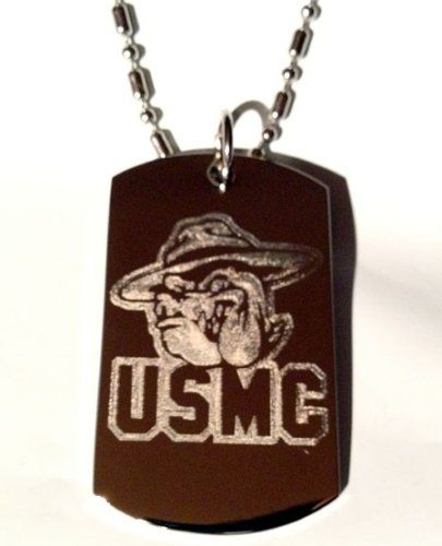 Usmc Bulldog Marines United States Marine Core Military Logo Symbol - Military Dog Tag Luggage Tag Key Chain Keychain Metal Chain Necklace *** See this great product.