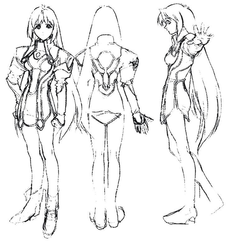 Elly Poses Sketch