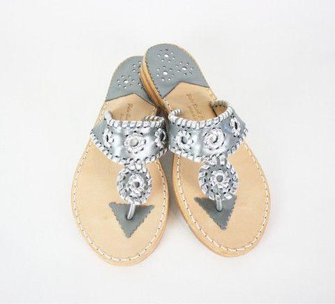 Gunmetal/Silver Palm Beach Sandals – Living on the Bliss