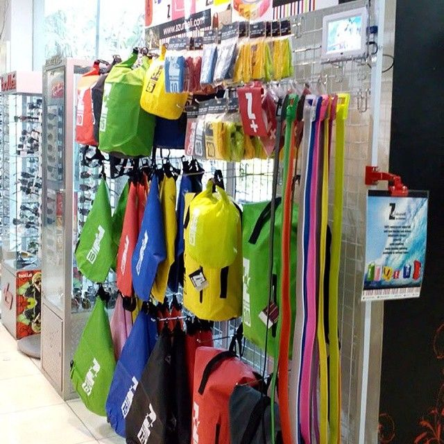 One of #azurbali #drybags display in our reseller in #Ubud