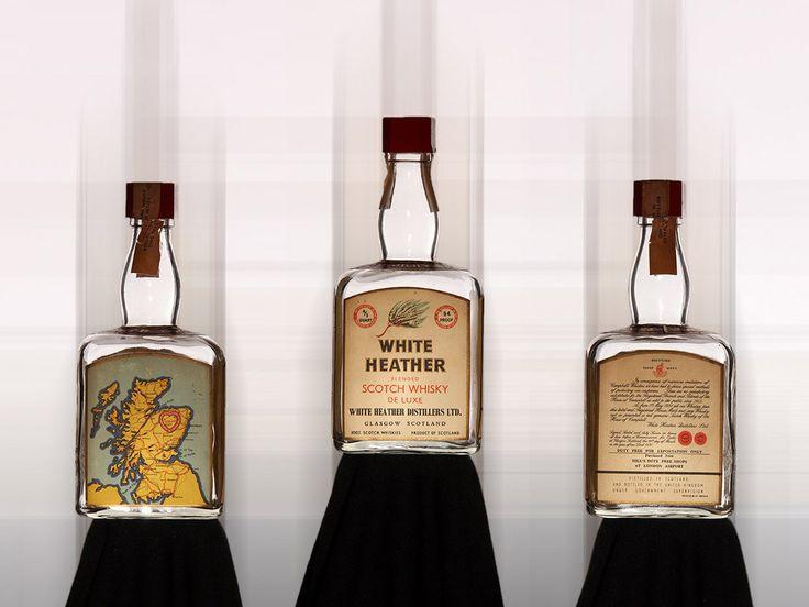 Old whisky bottles