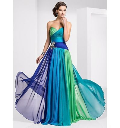 MIRABELLE - Evening dresses A-line Chapel train Chiffon Sweetheart Occasion dress