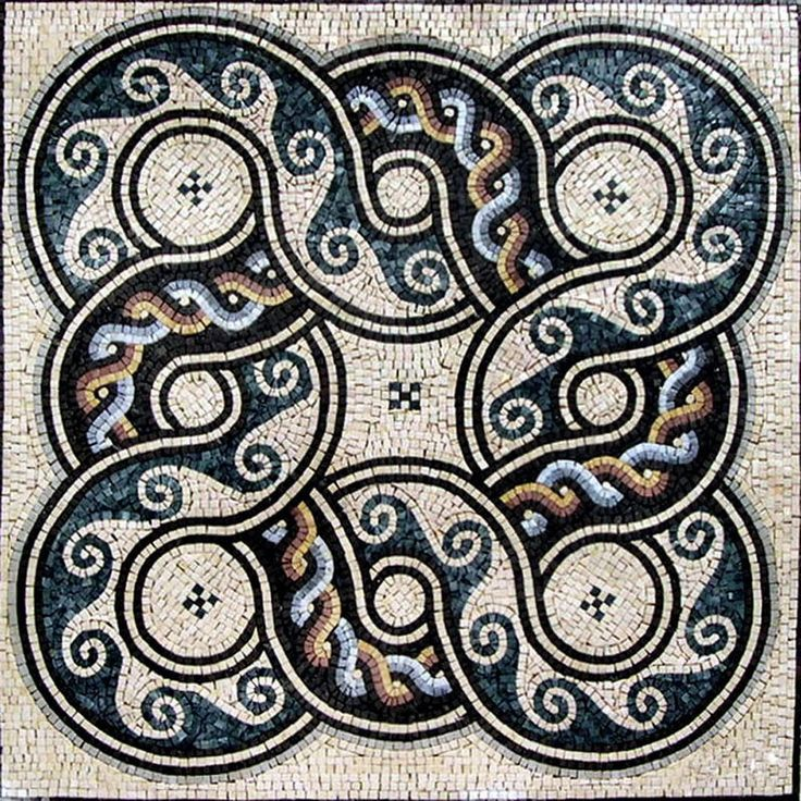 Marble Roman Mosaic Tile Design Pattern Artwork August
