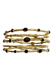 Black Stone Bangle Set    Repin your fave jewelry styles for a chance to win them to keep!