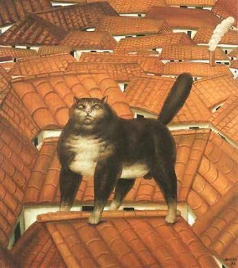 """""""Кот на крыше"""" Фернандо Ботеро (исп. Fernando Botero, р. 1932) – современный колумбийский художник. Биография, картины: http://contemporary-artists.ru/Fernando_Botero.html"""