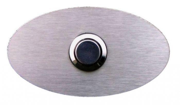 Türklingel edelstahl Elippse, Metall Klingelplatte, Klingel, Türklingeplatte