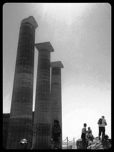 Il tempio di Lindos, Rodi come l'avrebbe fotografata la macchina fotografica del nonno.