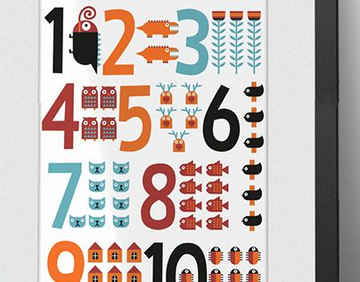 """Check out new work on my @Behance portfolio: """"Print - Numbers"""" http://be.net/gallery/32656259/Print-Numbers"""