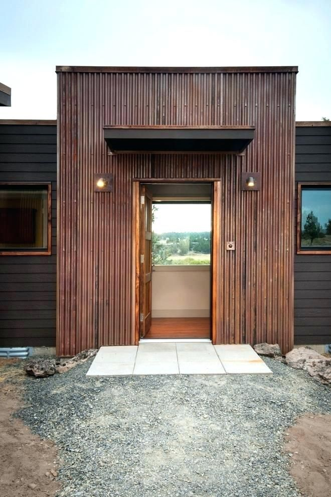 Rusted Metal Siding On The Exterior Shingles Corrugated House Metal Siding House Corrugated Metal Siding Corrugated Metal Roof