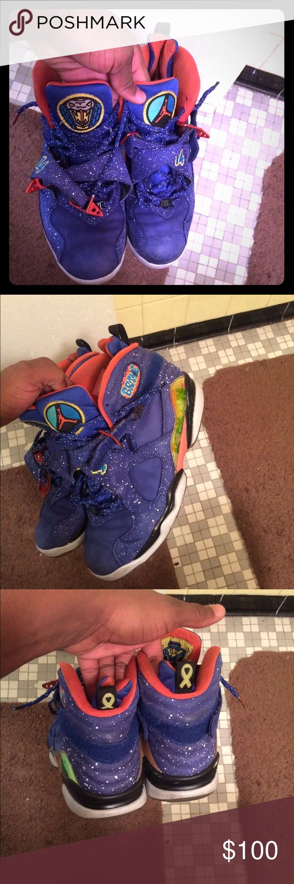 doernbecher 8s Very rare Jordan 8s SZ 10.5 collectors editon still wearable or for re customization can fit a SZ 11 or 10 8s cut original box is included Jordan Shoes Sneakers