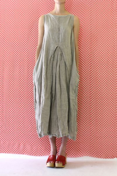 Daniela Gregis washed sleeveless barbabietola dress: