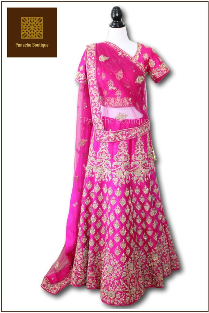3a3f8dbbcd Rani Pink Colour Wedding Lehenga. Find this Pin and more on 2018 Collection  from Panache Boutique by ManRup by Panache Haute Couture.