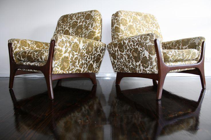 Mid Century Armchair Lounge Chair Merlin Fischer and Sons Carlisle, Pearsall Era Retro Vintage | 360 Modern Furniture