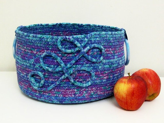 ExtraLarge Fabric Coiled Basket in by DMcGettigan on Etsy, $49.00