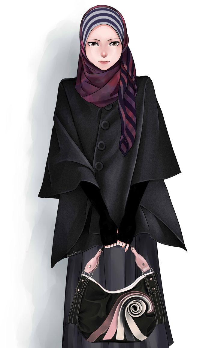 Hijab style….Tool: Paint Tool Sai….