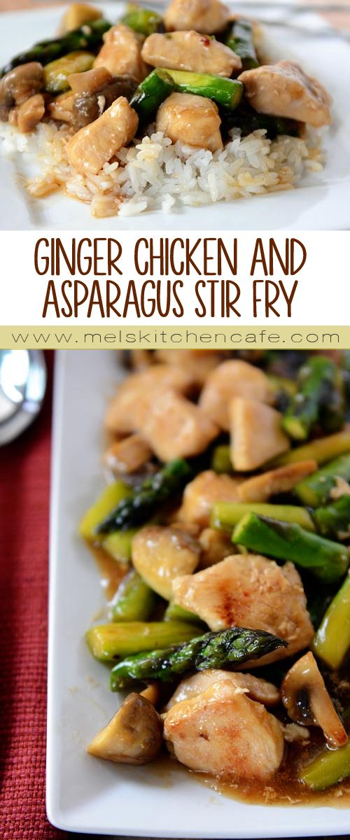 This ginger chicken and asparagus stir fry is a perfect meal for Spring.