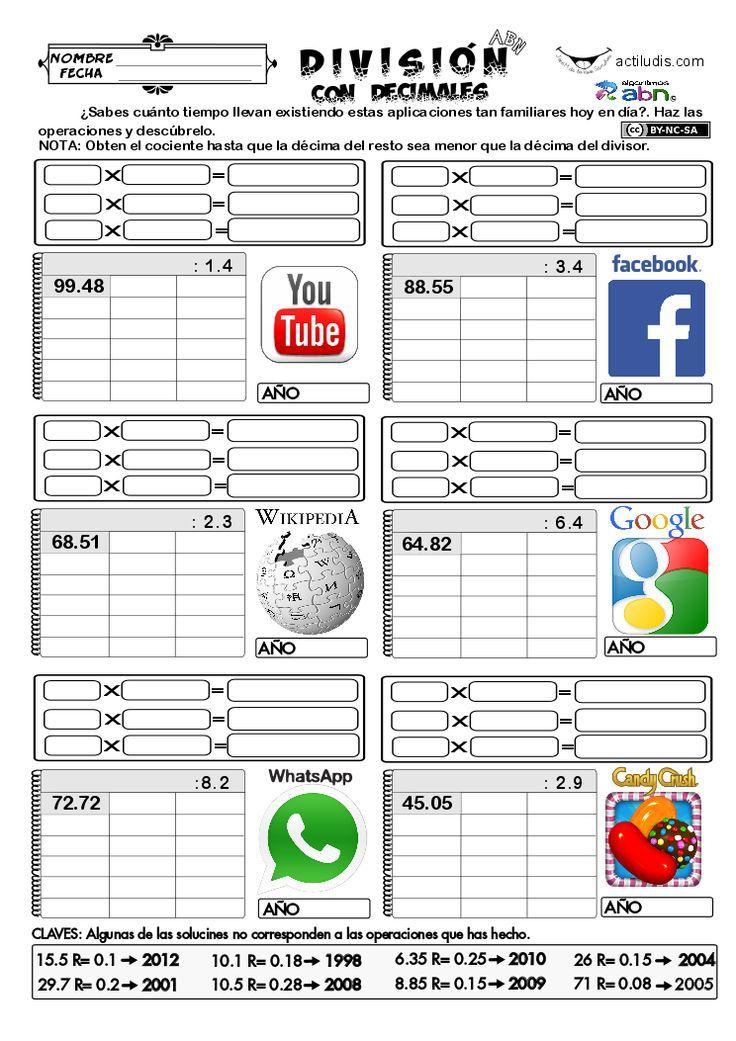 82 best Fichas ABN operaciones. Actiludis. images on Pinterest ...