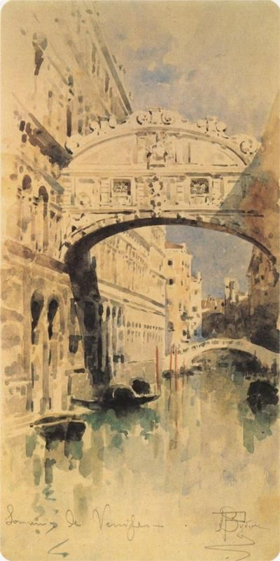 "Mikhail Vrubel:  ""Venice, Bridge of Sighs"""