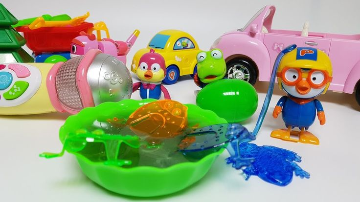 Pororo MIC and Liquid Monster Frog Toy Play & 뽀로로 마이크 개구리 액체괴물