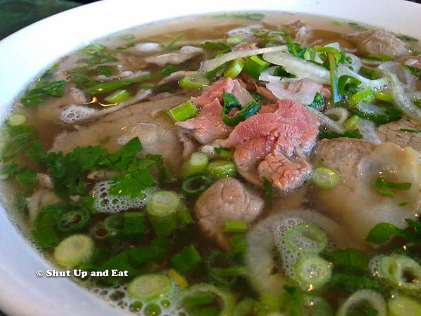 "If I could eat one thing for the rest of my life it would have to be Pho. This Vietnamese beef bone soup noodle dish is deep in flavour and aromatic in herbs. My favourite is the ""dac biet"" which means ""special"" - it consists of beef, beef tendon, tripe, brisket, beef balls, rib eye and garnished with cilantro and scallions. It's a perfect remedy for any cold winter day!"