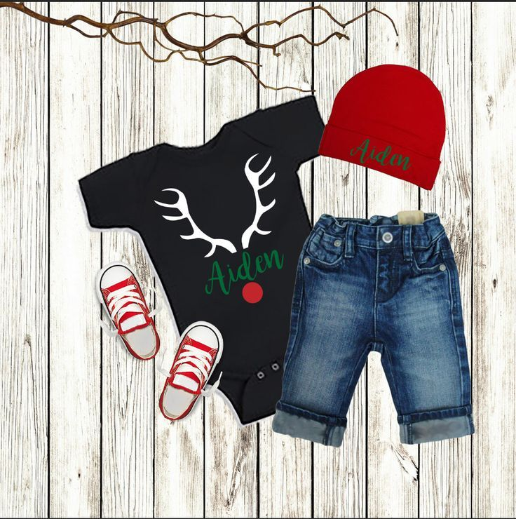 Christmas Baby Boy Outfit, Personalized Boy Christmas Clothes