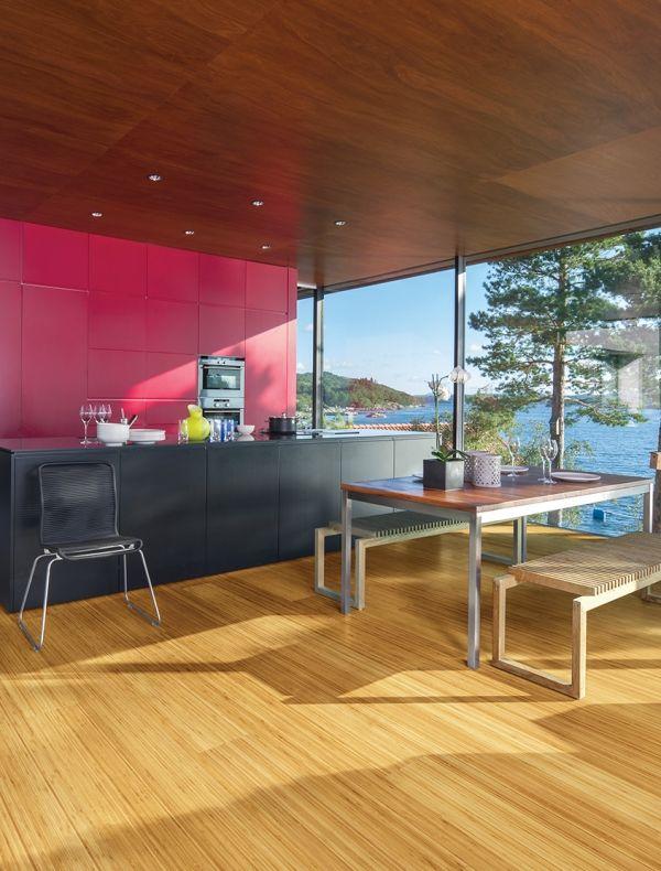 Pureform Vertical Grain Caramelized Engineered Ultra Wide Bamboo Flooring Wide Plank Flooring