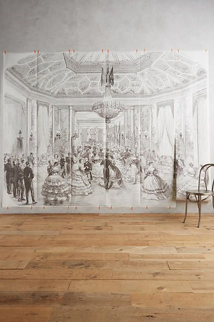 Grand Ballroom Mural. Bedroom WallpaperWallpaper MuralsFabric ... Part 93