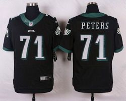 Nike Philadelphia Eagles Jersey 71 Jason Peters Black Alternate Men's Stitched NFL New Elite Jerseys