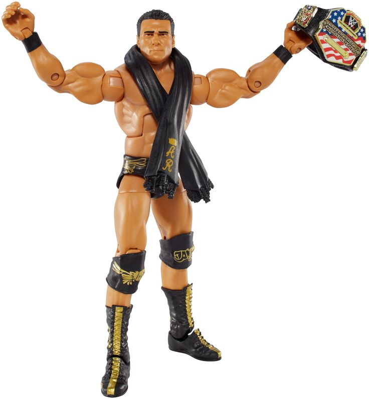Mattel WWE Elite Series 43 Alberto Del Rio Figure. Capture the blowout action of WWE Superstars with this Elite Collection figure!. Featuring one of the WWE's biggest personalities and Champions, this bold and colorful figure comes ready to wreak havoc right out of the box!. Figure has deluxe articulation, a detailed character expression, authentic ring attire and iconic accessories. Get all the WWE Elite Collection figures and let the battles begin!. Each sold separately, subject to...