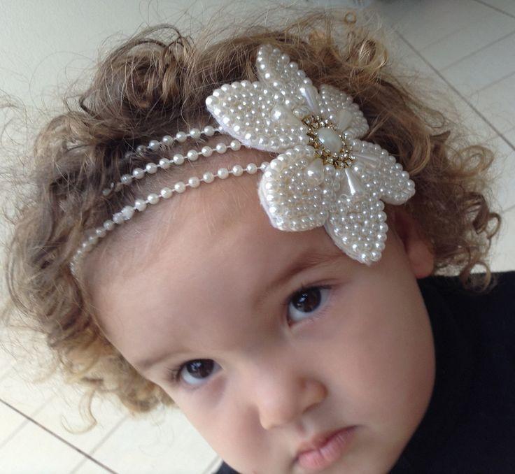 medida faixa cabelo   ... Cabelo Infantil no Pinterest   Headbands frisados, Arcos de cabelo