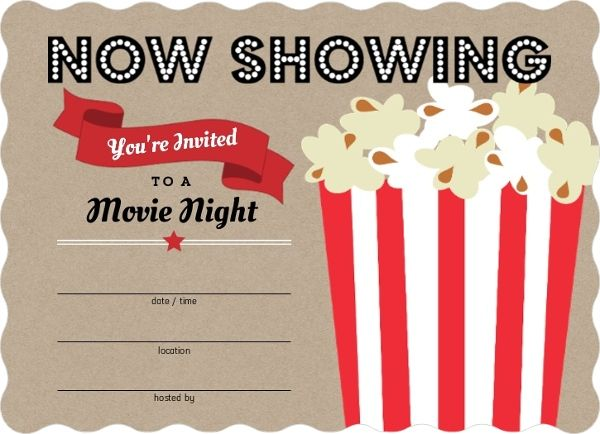 Movie night invitations template vaydileforic movie night invitations template maxwellsz