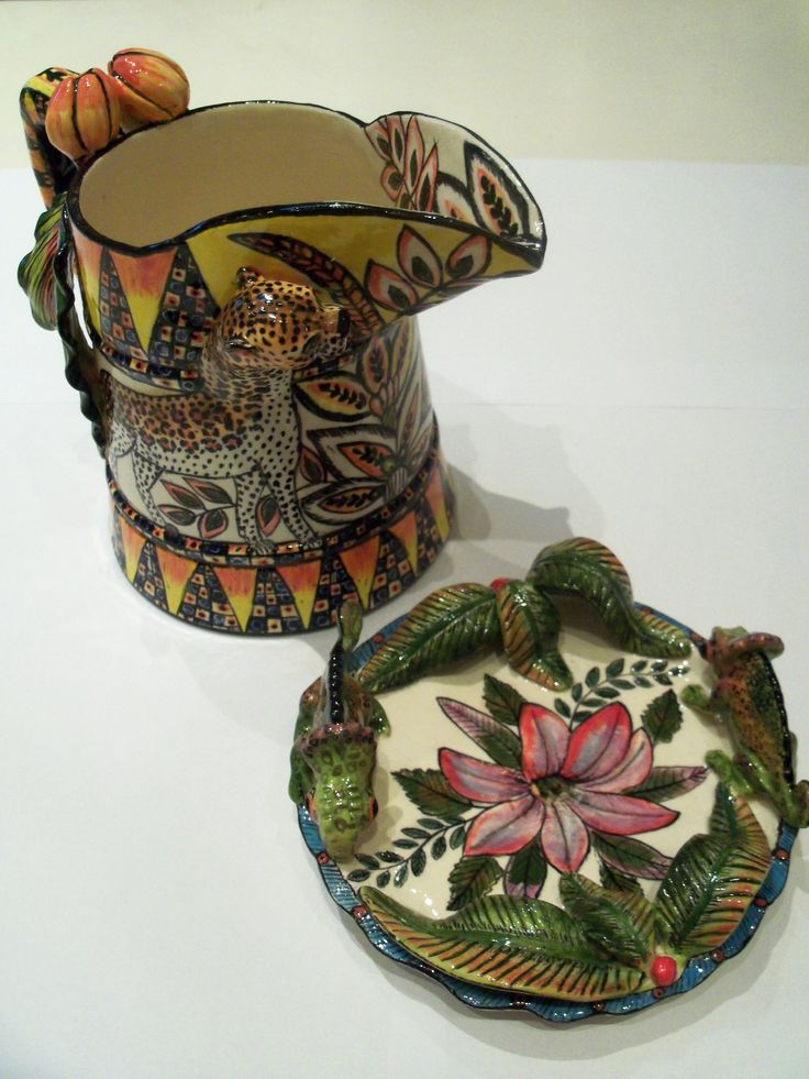 Ardmore Ceramics- Internationally renowned, for their unique colourful exotic style. Artisan Gallery has a collection of their stunning work. ARTISAN GALLERY Email: info@artisan.co.za, Tel:+27 31 312 4364