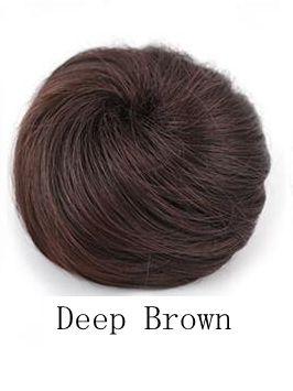 Synthetic hair chignon hair bun color of deep brown hair bun extension