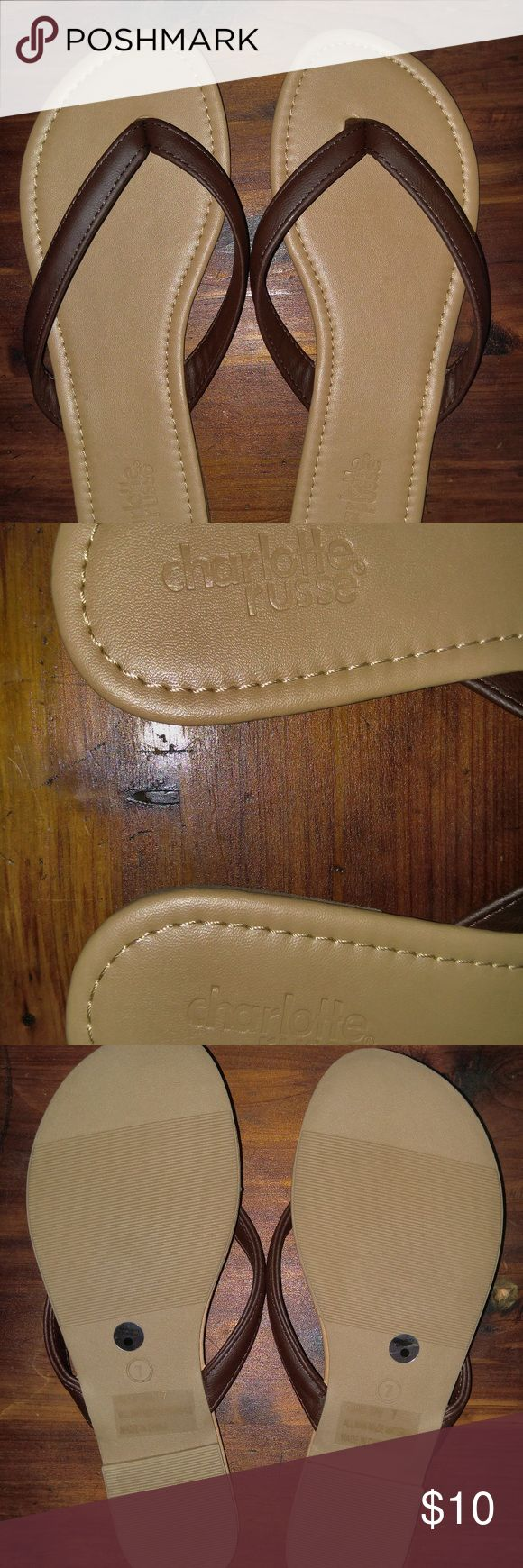 Charlotte Russe Brown Flip Flops NWOT Charlotte Russe, Brown Flip Flops, NWOT, Never worn, clean no stains or damage. Size 7. I am only selling them because I ordered them online & they were too small Charlotte Russe Shoes Sandals