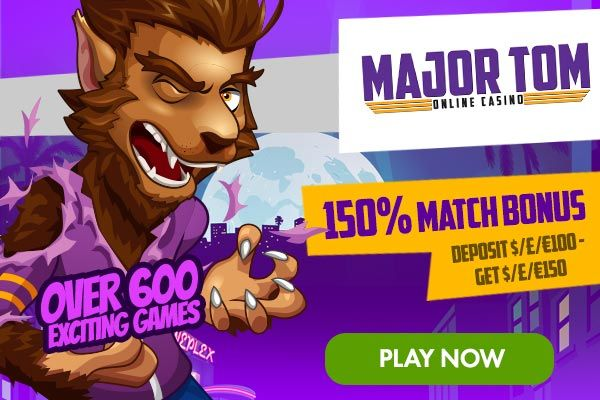Major Tom Casino is powered by leading Microgaming online casino software, which remains the most highly regarded online gambling platform on the market.