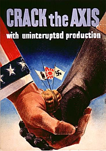 "US poster, 1942-1945: ""Crack the Axis"""