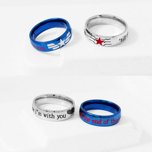 STUCKY Winter Soldier Captain America Ring Set Ring edelstaal