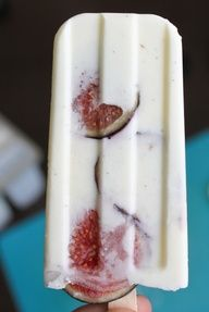 Fig, vanilla and sour cream popsicles.