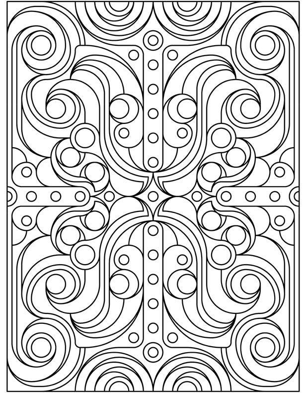 Deco Tech Coloring Book Dover Publications