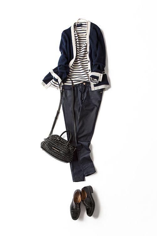 コーディネート詳細(ボーダーTのヘルシーさをロックな気分で着る)| Kyoko Kikuchi's Closet|菊池京子のクローゼット