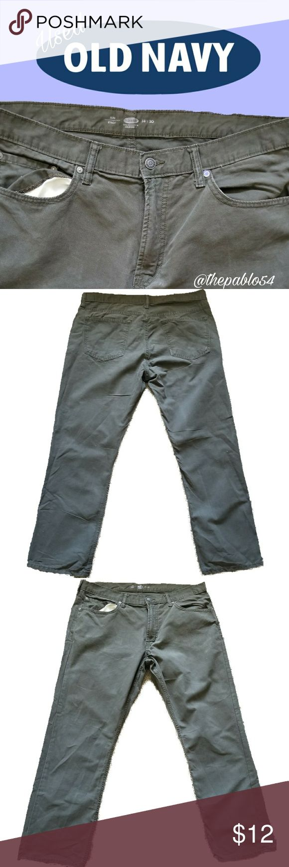 Men's Old Navy Army Green Pants Good condition Please inspect the above pic. W38 L30 Old Navy Pants Cargo