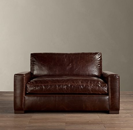 chair too restoration hardware maxwell leather chair and a half