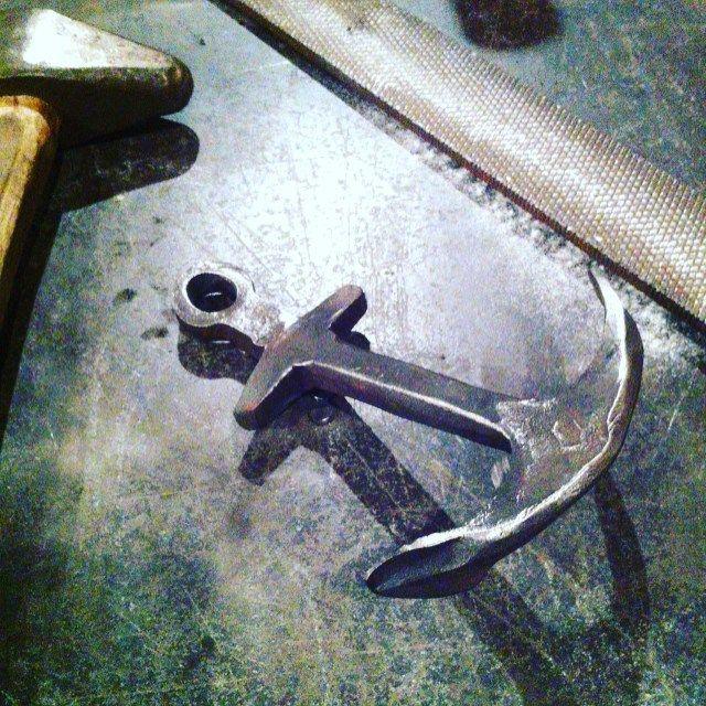 Hook No.41 #366hooks Feeling a little anchored today. #blacksmith #handforged…